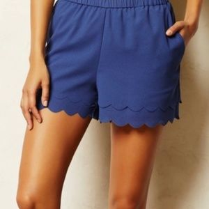 《Anthro》 Eloise scallop shorts